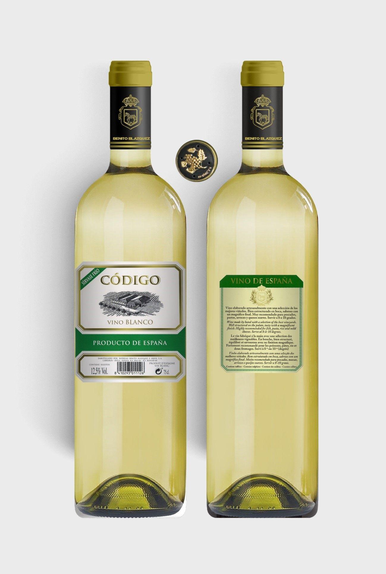 Benito Blázquez - Botella de Vino Blanco Código