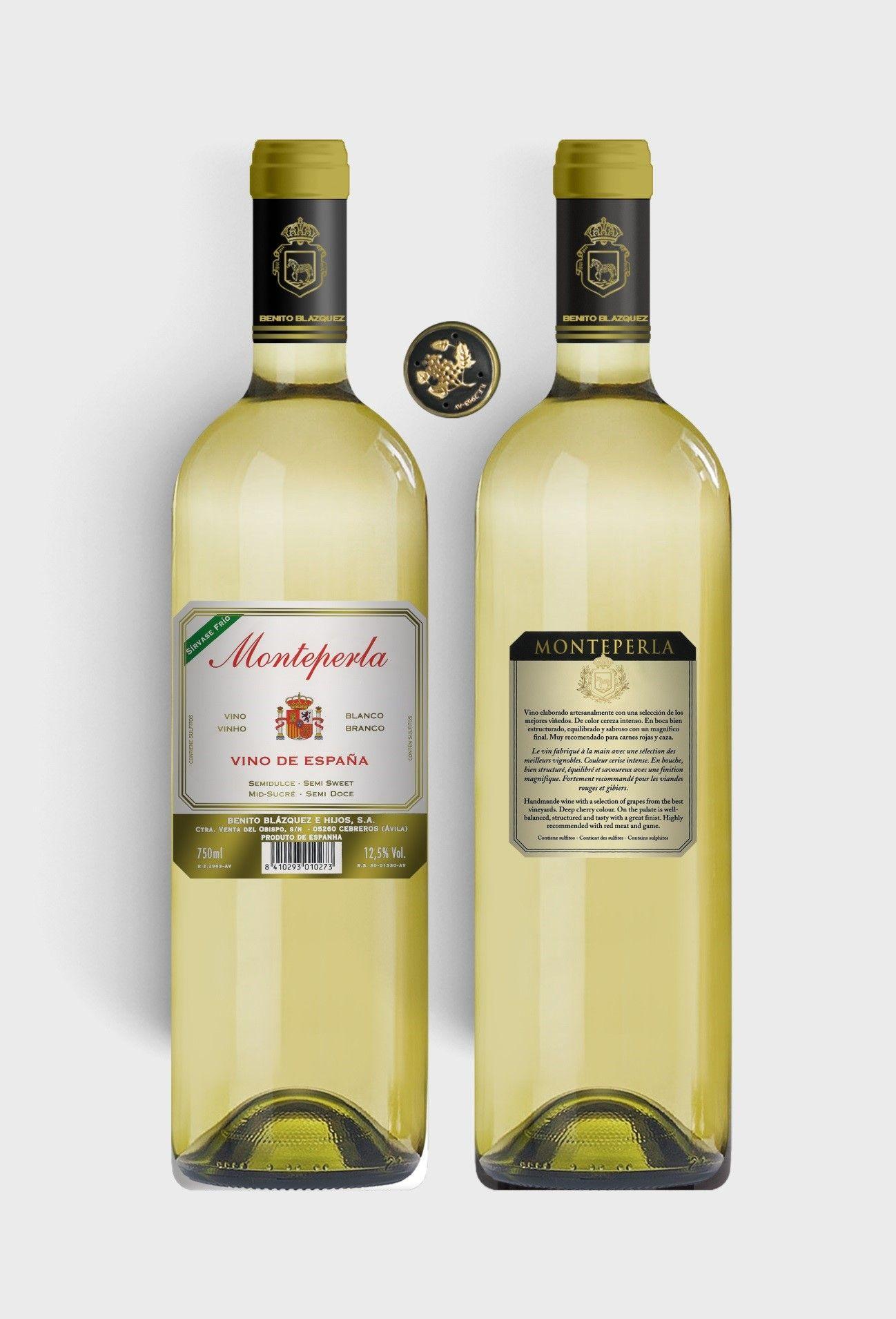 Benito Blázquez - Botella de Vino Blanco Monteperla