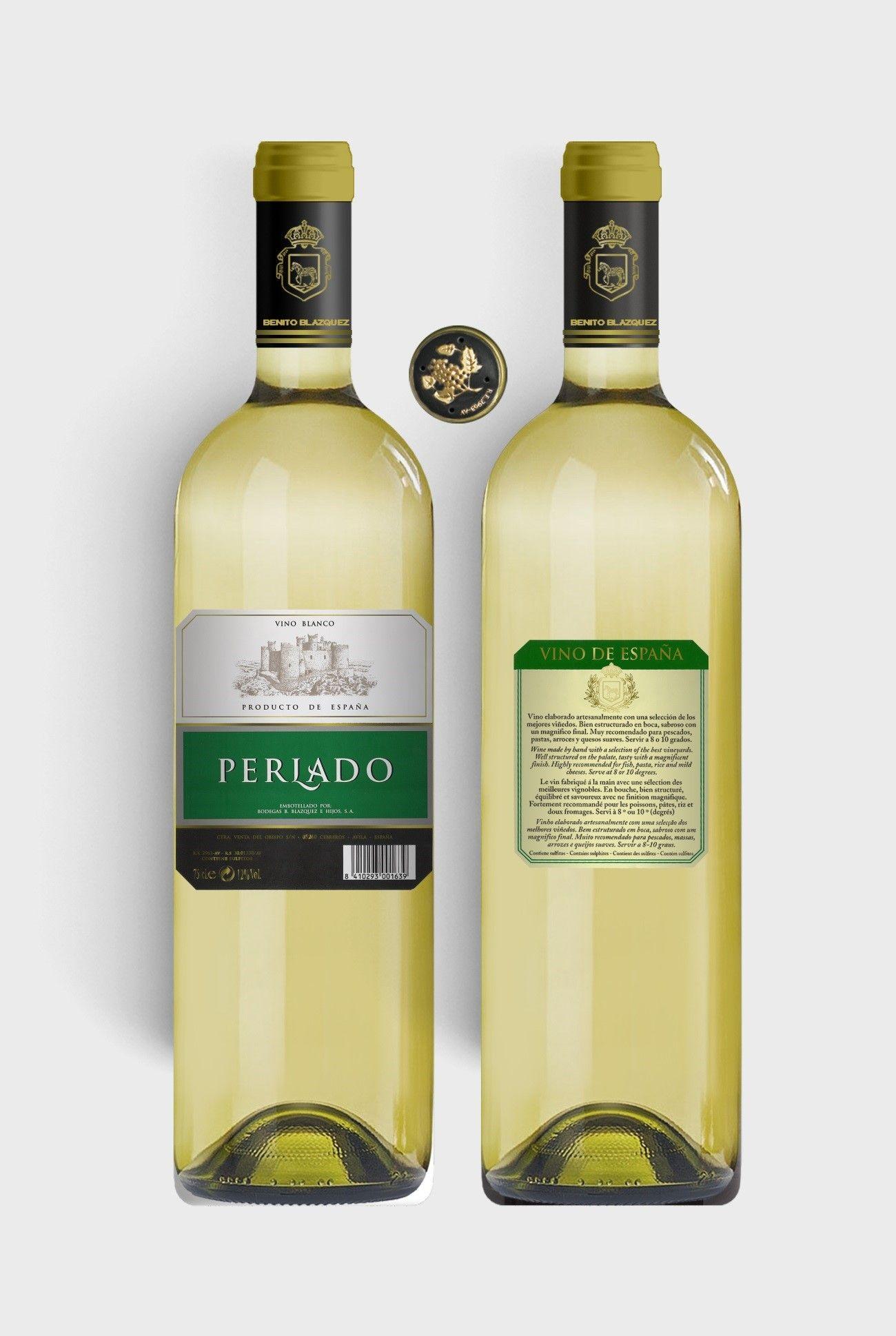 Benito Blázquez - Botella de Vino Blanco Perlado