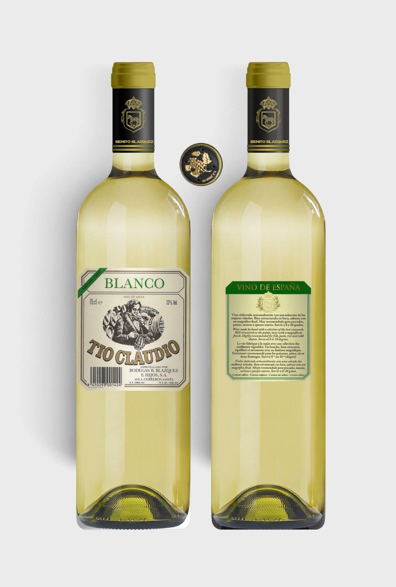 Benito Blázquez - Botella de Vino Blanco Tío Claudio