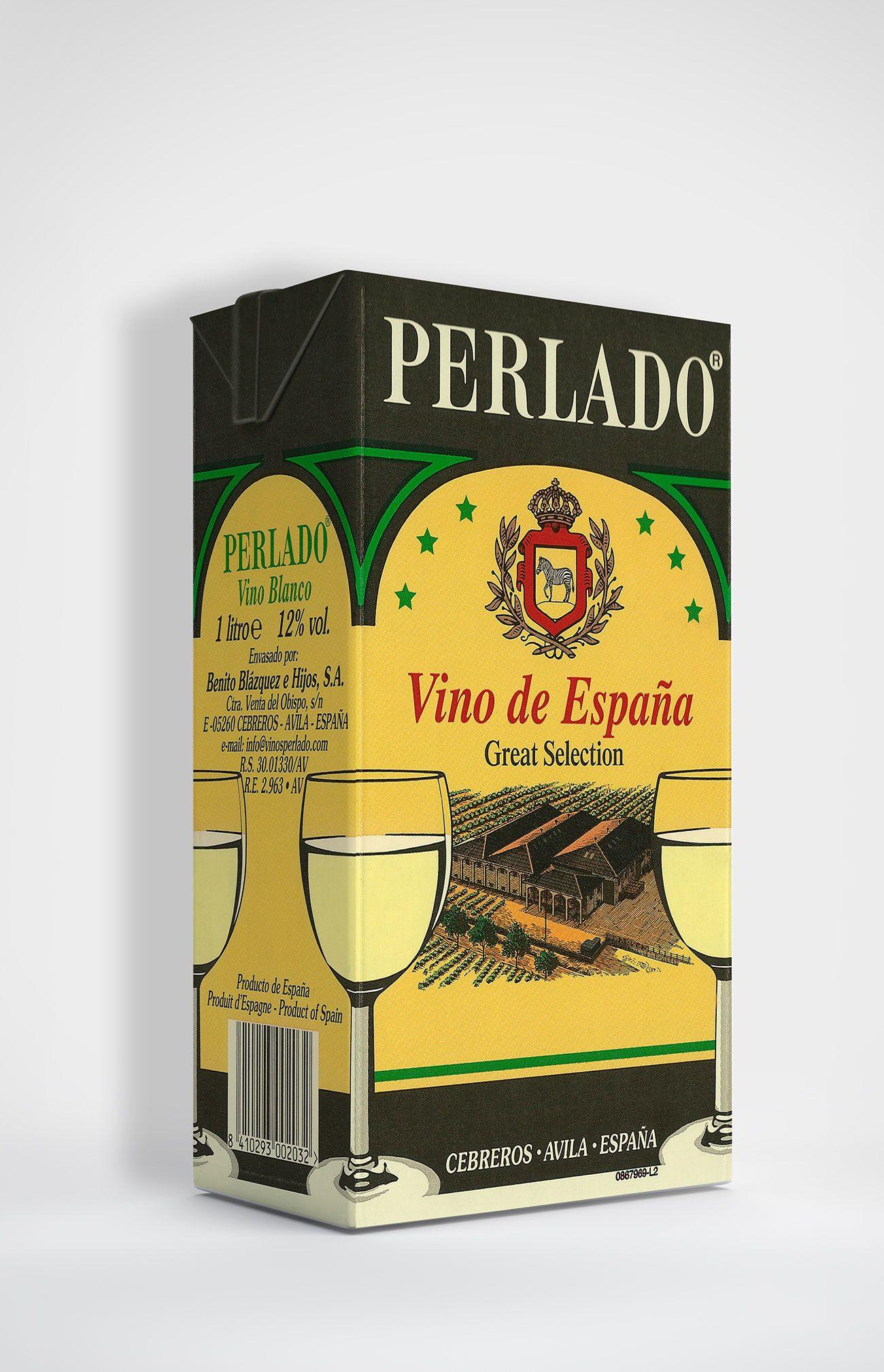 Benito Blázquez-Botella de Vino Perlado Blanco en Brik
