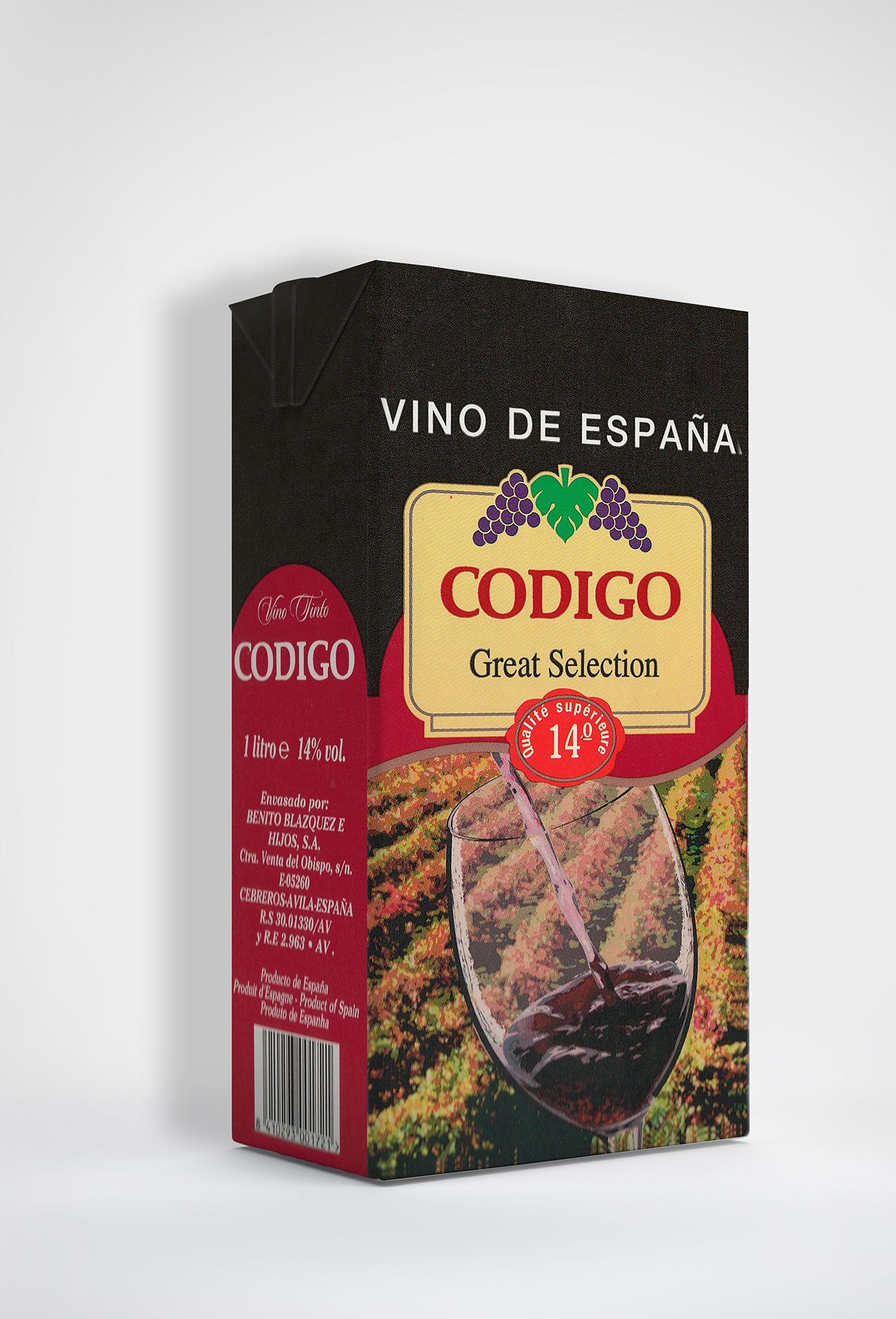 Benito Blázquez - Brik de Vino Código Tinto