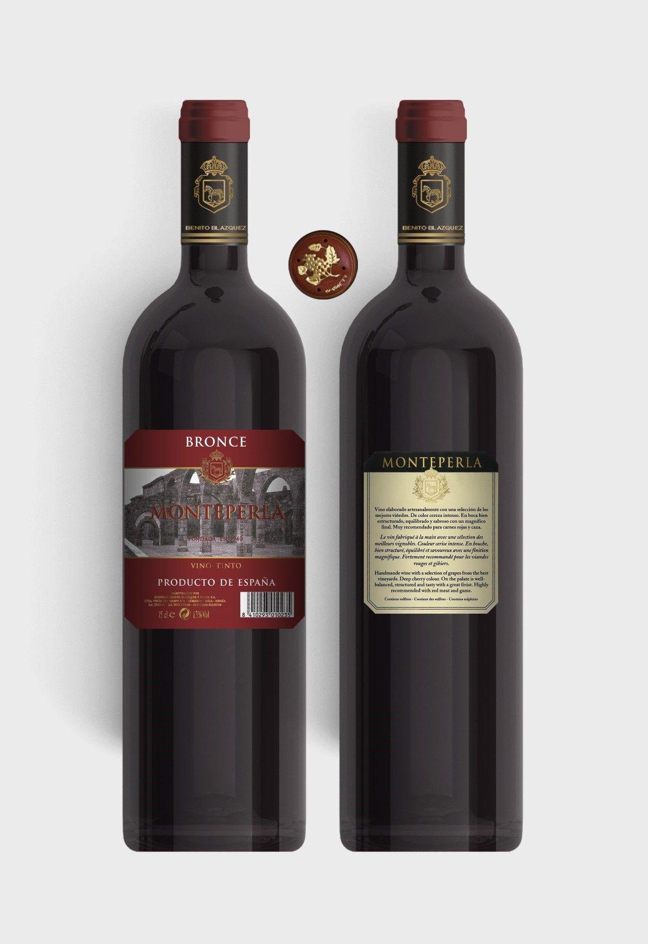 Benito Blázquez - Botella de Vino Tinto Monteperlado Bronce