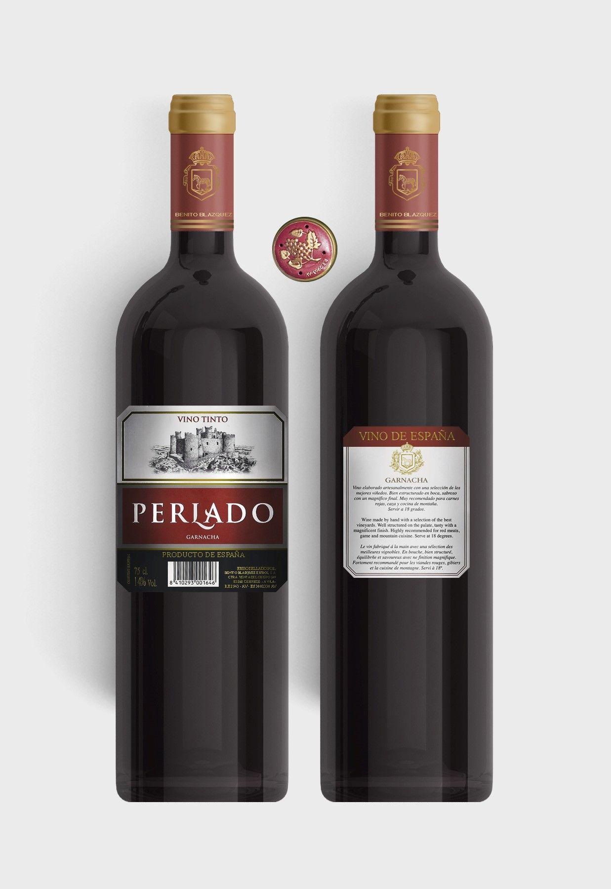 Benito Blázquez - Botella de Vino Tinto Perlado