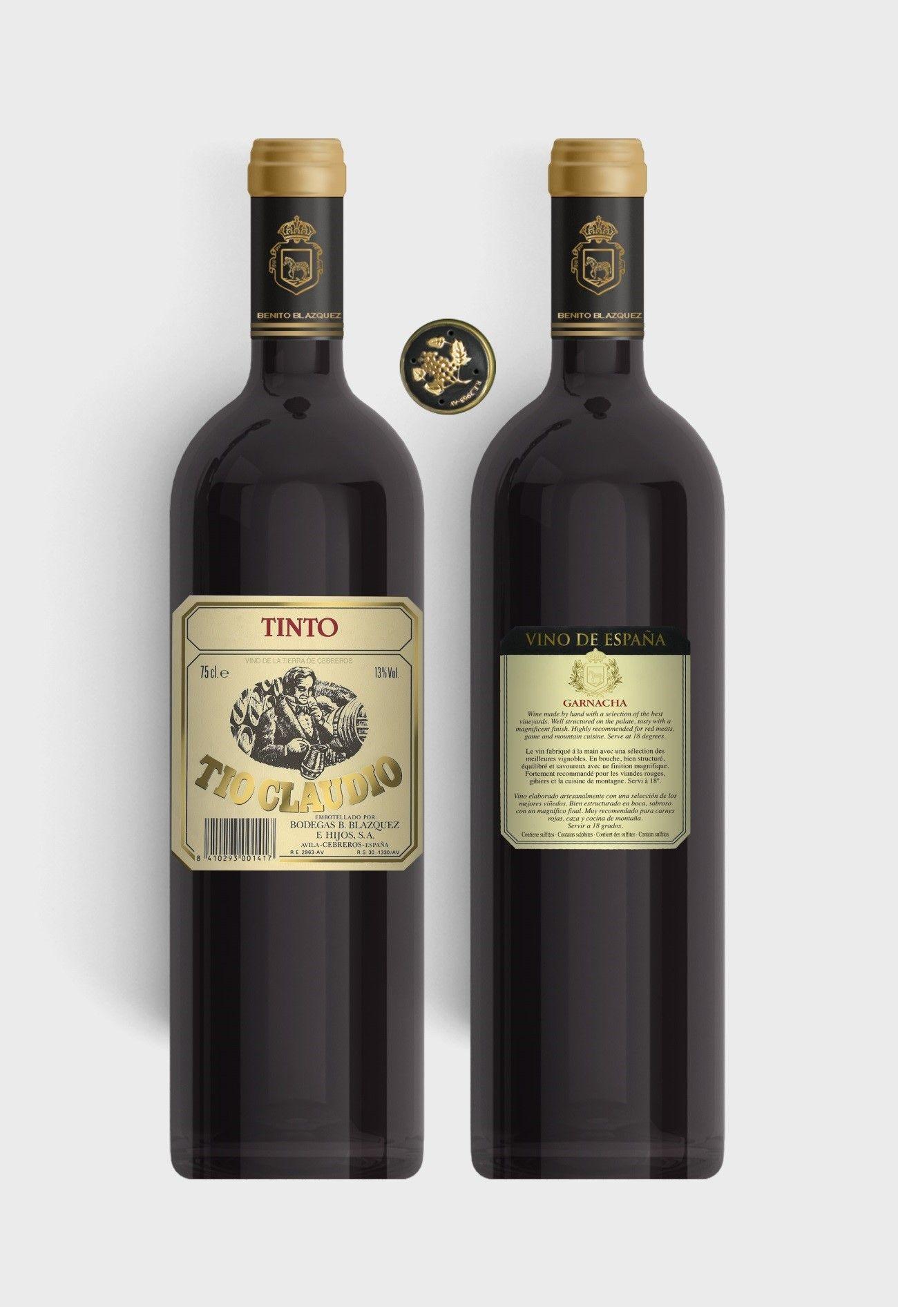 Benito Blázquez - Botella de Vino Tinto Tío Claudio
