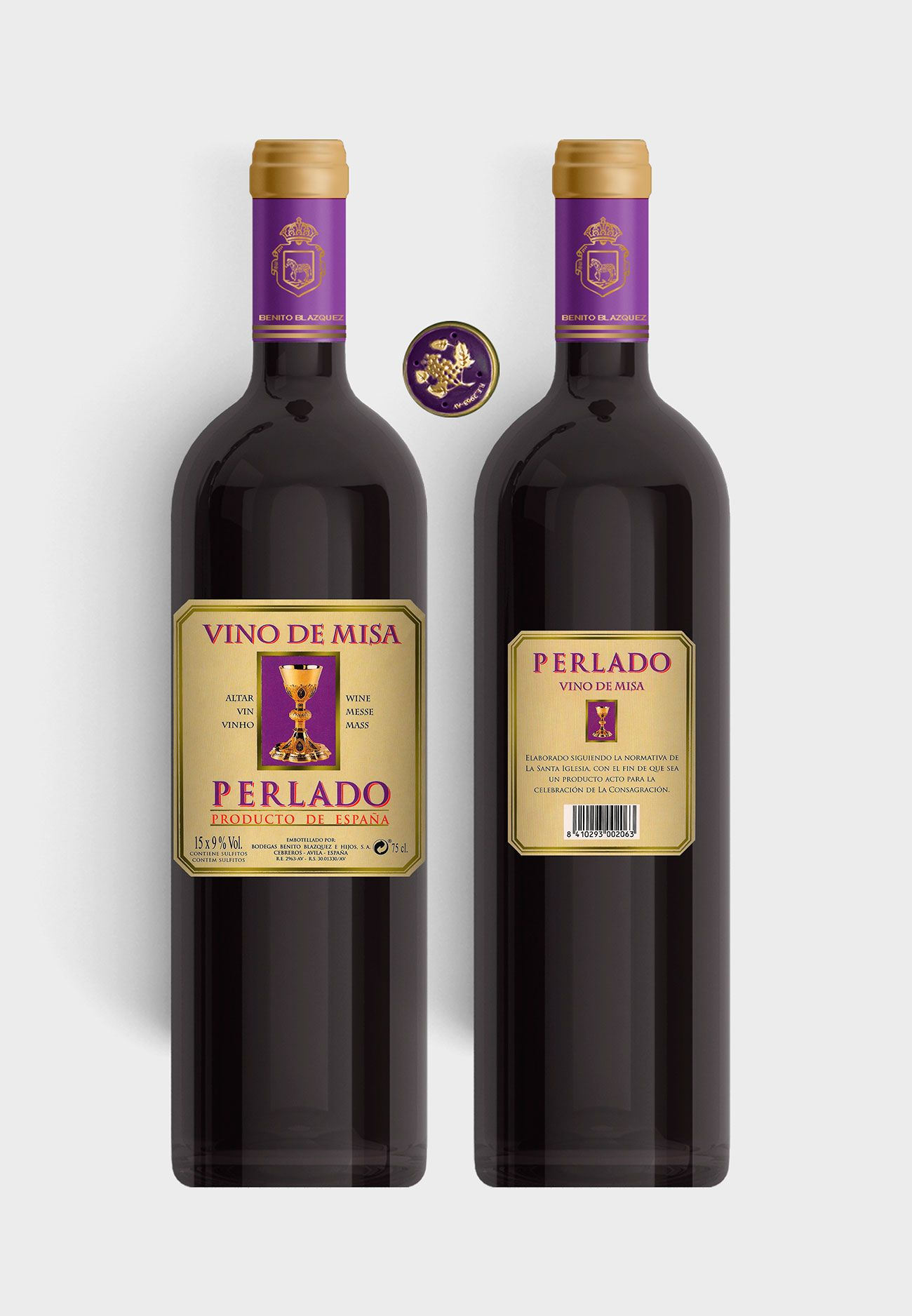 Benito Blázquez - Botella de Vino de Misa