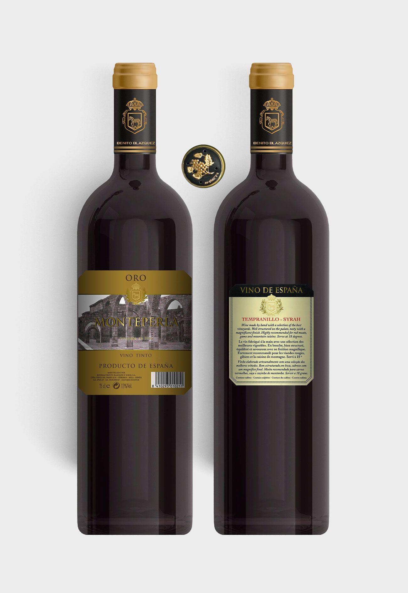 Benito Blázquez - Botella vino tinto Monteperla