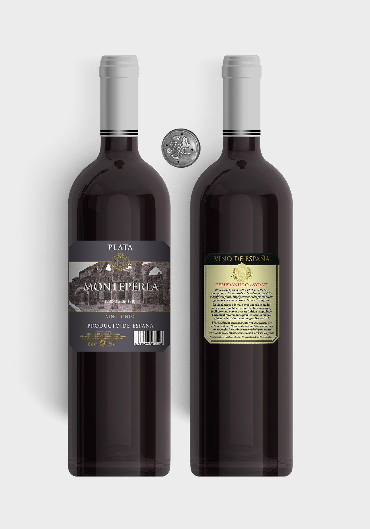 Benito Blázquez - Botella vino tinto Monteperla Plata